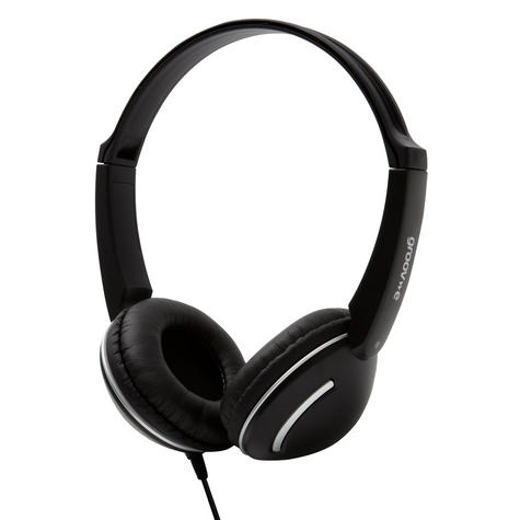 Groov-e Streetz Stereo Headphones with Volume Control - Black GV897BK Thumbnail 2