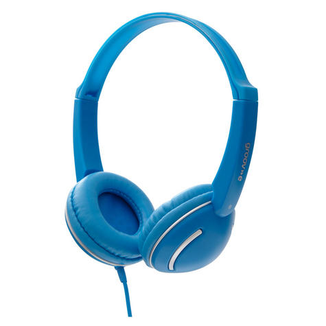 Groov-e Streetz Stereo Headphones with Volume Control - Blue GV897BE Thumbnail 2