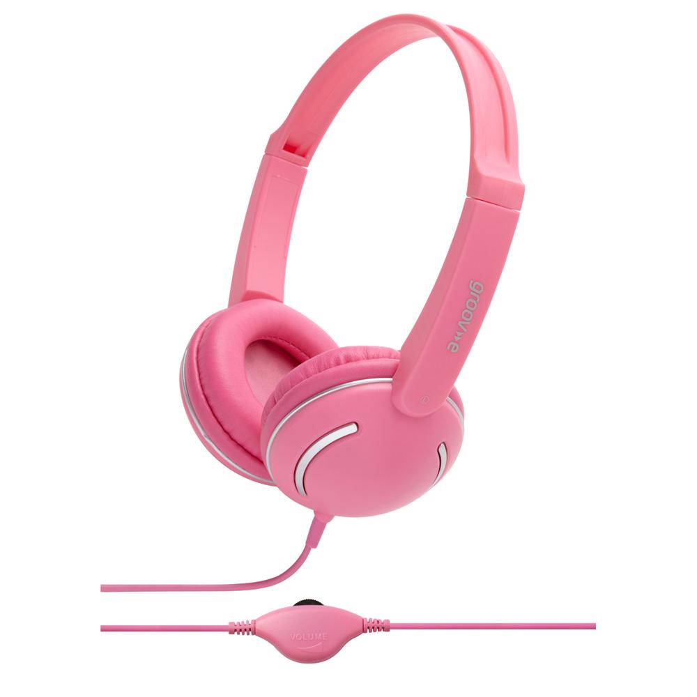 Groov-e Streetz Stereo Headphones with Volume Control - Pink GV897PK