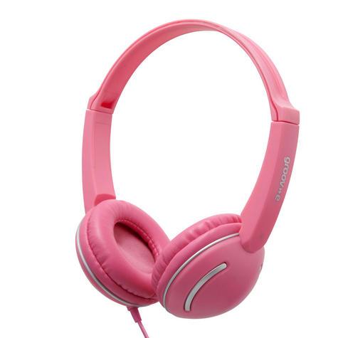 Groov-e Streetz Stereo Headphones with Volume Control - Pink GV897PK Thumbnail 2