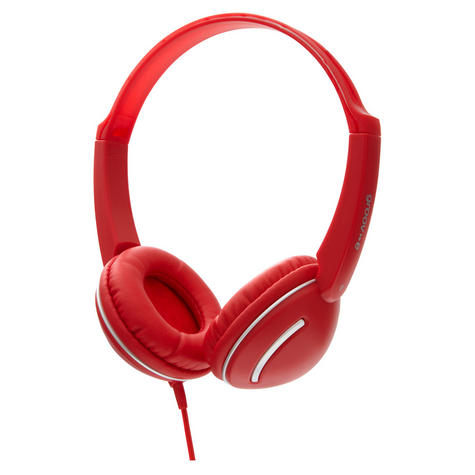 Groov-e Streetz Stereo Headphones with Volume Control - Red GV897RD Thumbnail 2