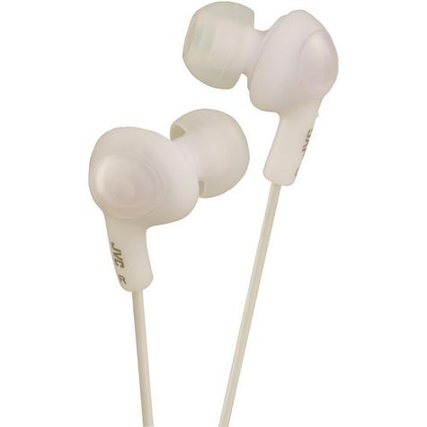 JVC GUMY PLUS Ear Bud Earphones for iPhone MP3 Player  - Coconut White HAFX5W Thumbnail 3