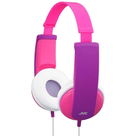 JVC Tiny Phones Kids Stereo EarPhones Noise Limiter for iPhone MP3 Player Pink Thumbnail 2