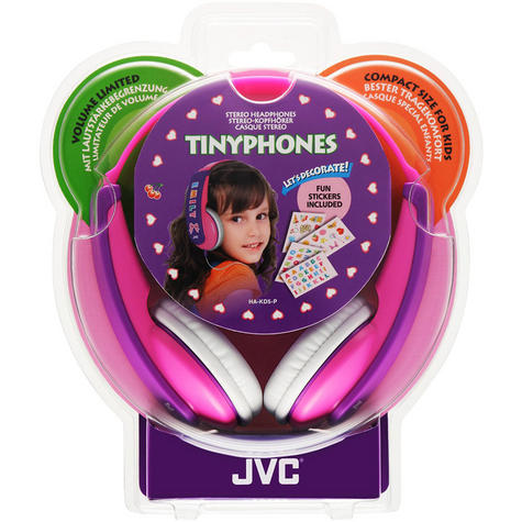 JVC Tiny Phones Kids Stereo EarPhones Noise Limiter for iPhone MP3 Player Pink Thumbnail 4