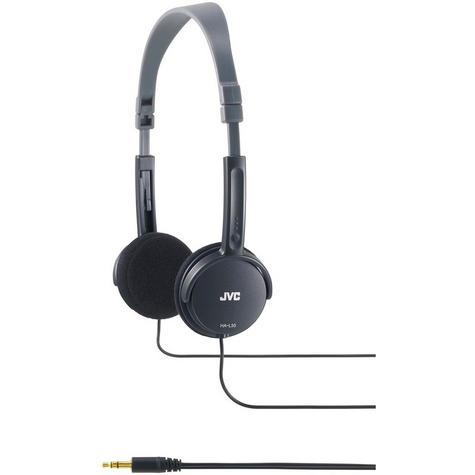 JVC HA-L50 Foldable Light Weight Stereo Over Ear Earphones Headphones - Black Thumbnail 2