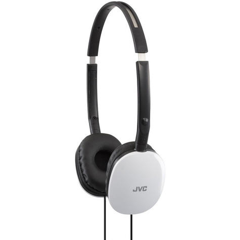 JVC Flats Foldable Stereo Earphones for iPhone MP3 Player Deep Bass White Thumbnail 2