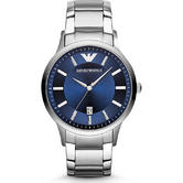 Emporio Armani Classic Gent's Navy Blue Dial Stainless Steel Case Watch AR2477
