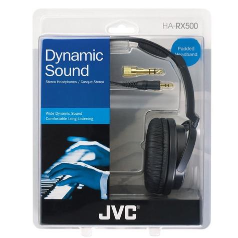 JVC HA-RX500 Silver Full Size High Quality Extra Bass Stereo Overhead Headphones Thumbnail 5