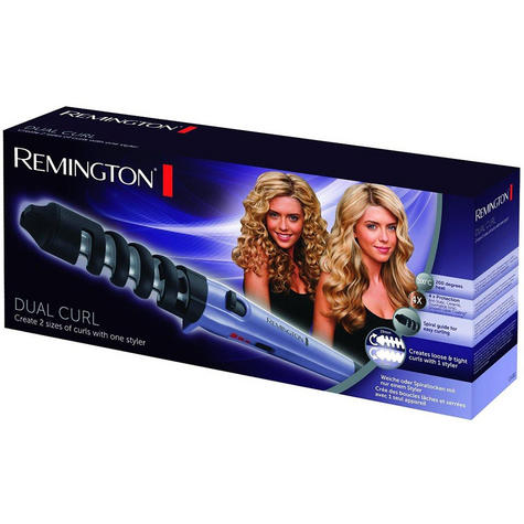 Remington Dual Curl Womens Hair Curling Styling Swivel Wand Tong Iron New CI63E1 Thumbnail 3