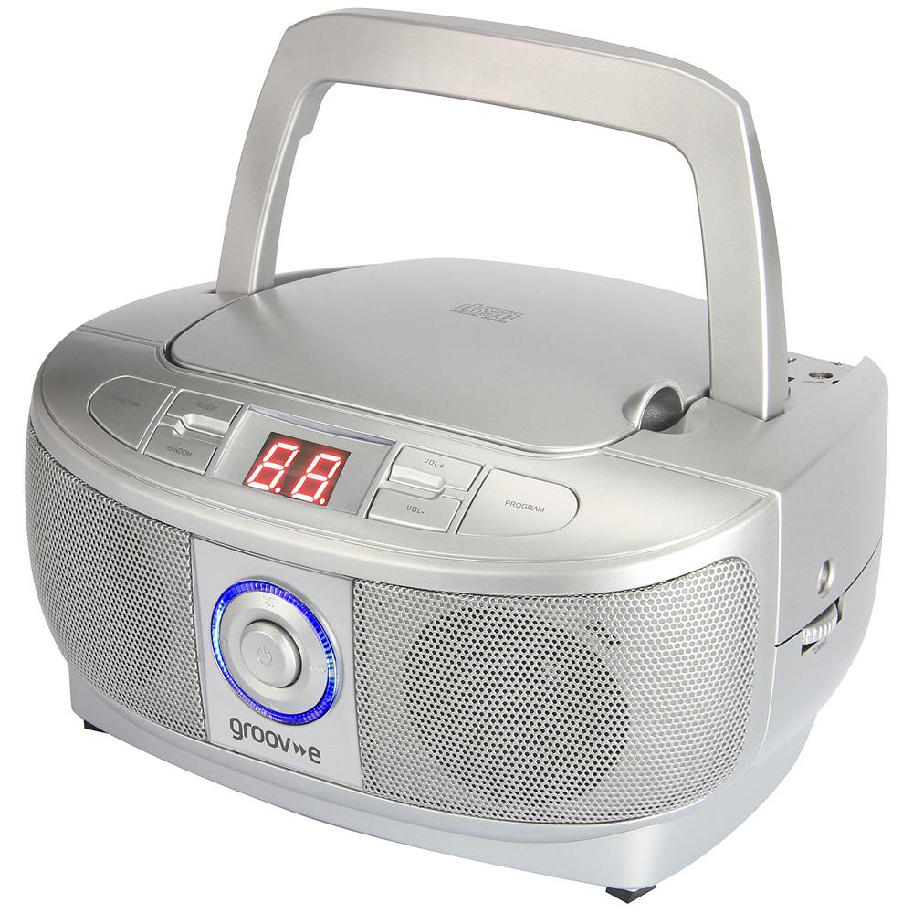 Groov e mini boombox portable cd player with radio - Mobile porta cd ...