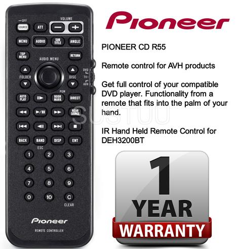 PIONEER CD R55 Remote Control for AVH Products & DEH3200BT NEW Thumbnail 1