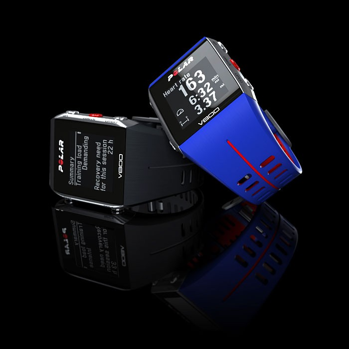 polar black v800 water resistant heart rate monitor digital wrist watch