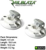Railblaza StarPort Pair White Surface or Recess Mount on ATV Kayak Boat Garage