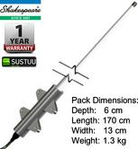 Shakespeare MD70 1.5m Commercial Marine VHF Antenna with Universal base