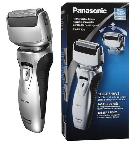 NEW Panasonic Pro-Curve Dual Blade Wet/Dry Men's Rechargeable Shaver ES-RW30  Thumbnail 1