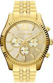 Michael Kors Gent's Lexington Chronograph Gold Tone Designer Watch MK8281