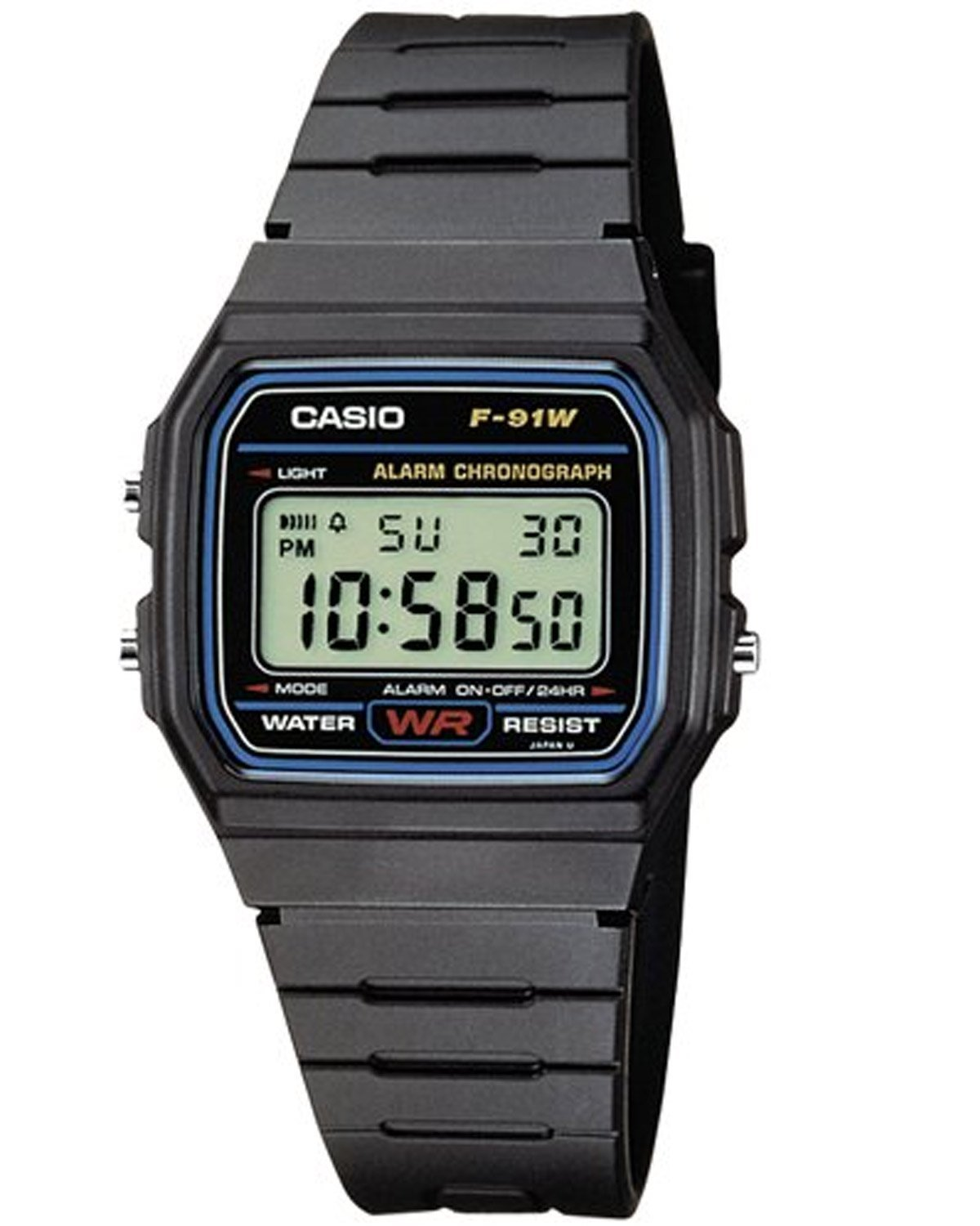 genuine casio f91w classic digital retro sports alarm