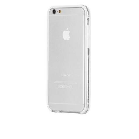 Case-Mate Tough Frame Ultra Slim Bumper Case for iPhone 6 6s 7 7S Clear/White Thumbnail 3