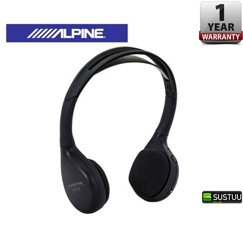 Alpine SHS-N206 Dual Channel Fold-Flat Wireless InfraRed Headphone LED Indicator Thumbnail 1