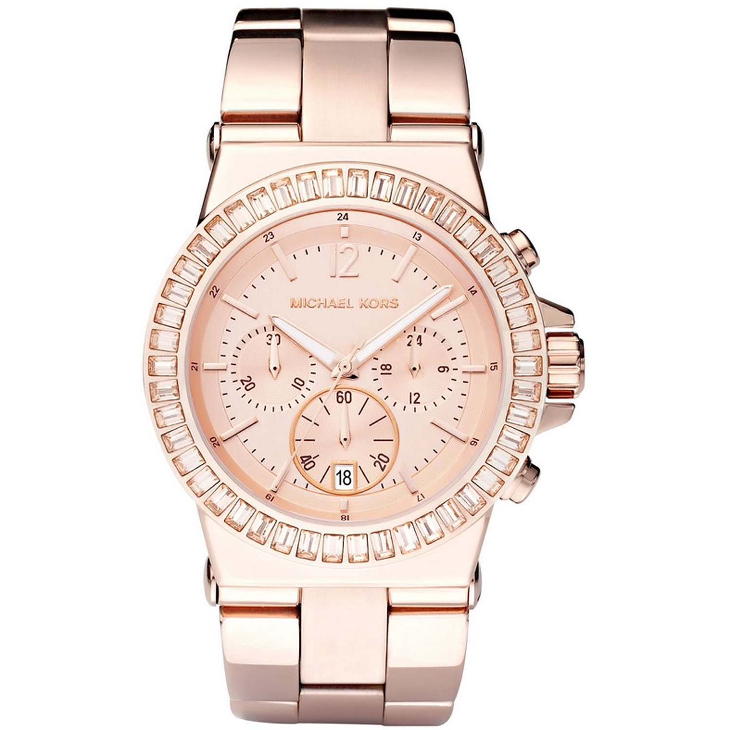 michael kors ladies dylan collection rose gold chronograph. Black Bedroom Furniture Sets. Home Design Ideas