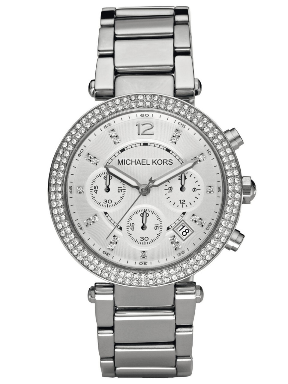 michael kors silver stainless steel chronograph
