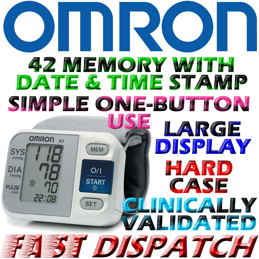 Omron R3 Wrist Blood Pressure Monitor with IntelliSense Brand New