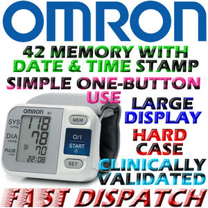 Omron R3 Wrist Blood Pressure Monitor with IntelliSense Brand New Thumbnail 1