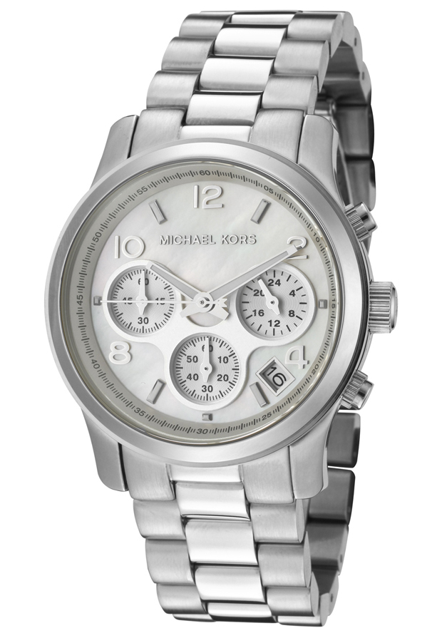 Watch Mom In Bedroom Camera: Michael Kors Ladies' Runway Chronograph Mother Of Pearl