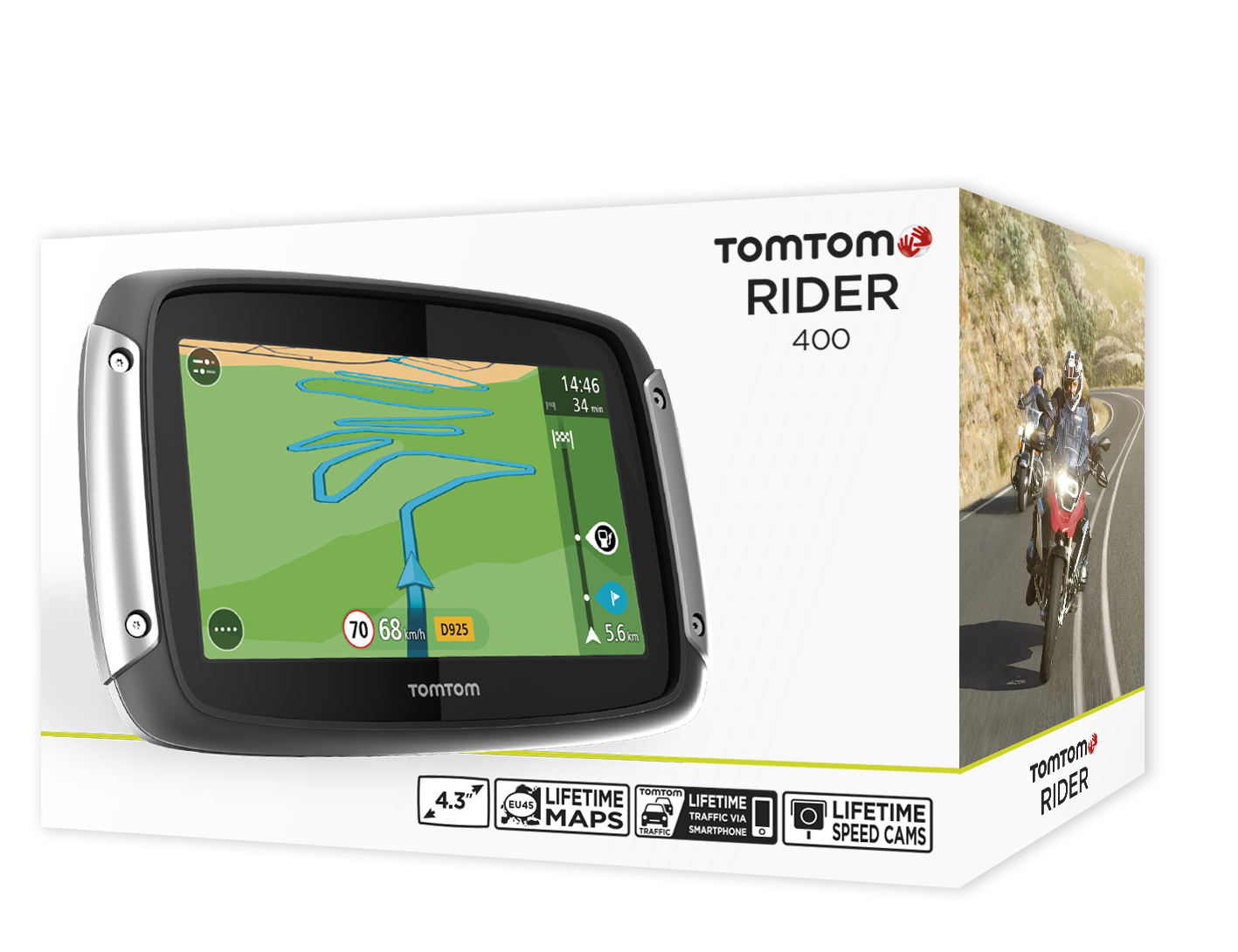 tomtom rider 400 2016 v6 motorcycle scooter gps satnav lifetime uk europe maps ebay. Black Bedroom Furniture Sets. Home Design Ideas