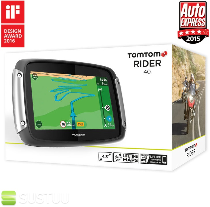 tomtom rider 40 2016 v6 motorrad gps navi lebenszeit uk. Black Bedroom Furniture Sets. Home Design Ideas