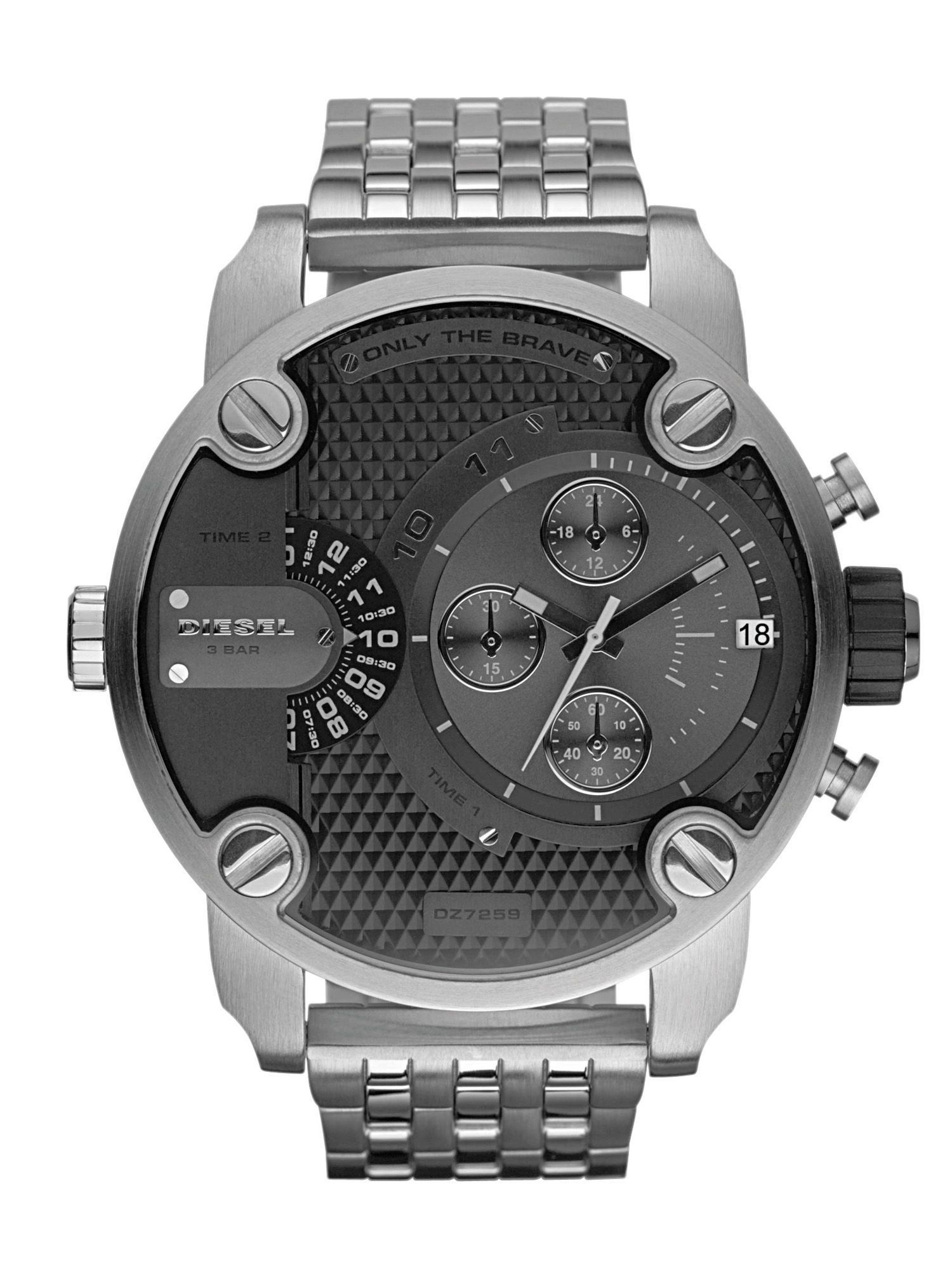 diesel little daddy dz7259 men 39 s stainless steel bracelet chronograph watch sustuu. Black Bedroom Furniture Sets. Home Design Ideas