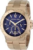 Michael Kors Ladies Dylan Ocean Blue Face Chronograph Designer Watch MK5410