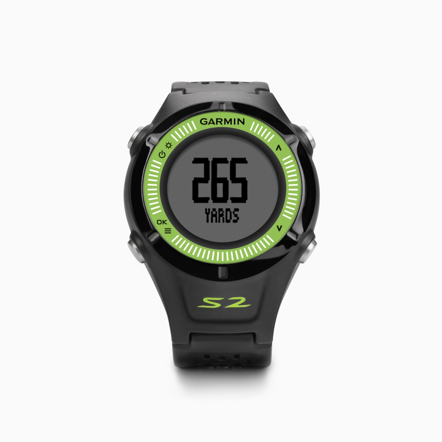 Garmin approach s2 black green golf gps watch sustuu for Watches garmin
