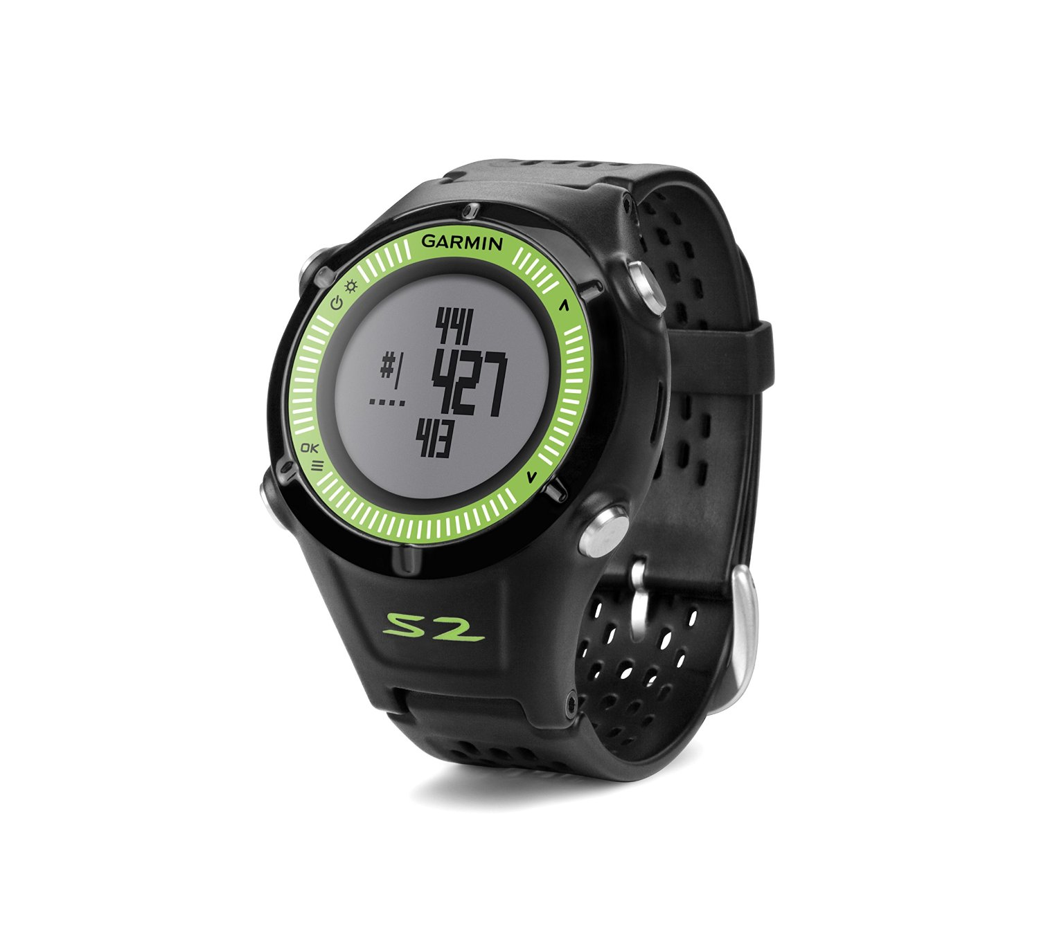garmin approach s2 black green golf gps watch sustuu. Black Bedroom Furniture Sets. Home Design Ideas