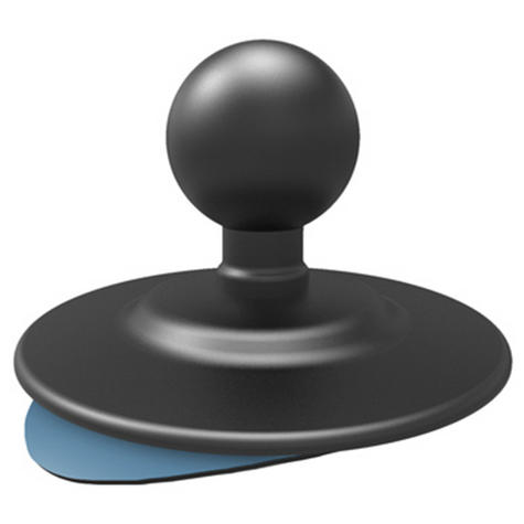 "Ram Mount RAP-B-378U 2.5"" Flex Adhesive Base Dash Round Mount with Rubber Ball Thumbnail 1"