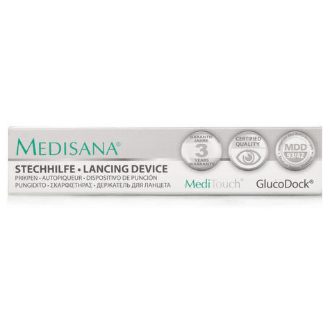 Medisana MediTouch GlucoDock Diabetic Testing Pen Blood Glucose Lancing Device  Thumbnail 2
