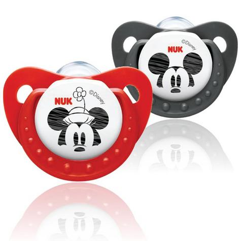 Disney by NUK Orthodontic Dummy Pacifier Baby Silicon Soother Size 2 Twin Pack Thumbnail 3