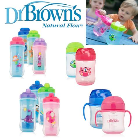 Dr Brown's Options New Improved Baby Non-Spill Easy Travel Toddler Trainer Cup Thumbnail 1