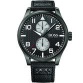 Hugo Boss Gent's 3-Hand Aeroliner Maxx Kevlar Strap Designer Watch 1513086