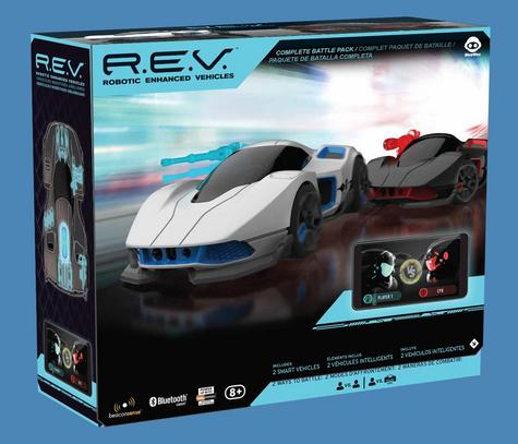 WowWee REV Robotic Smartphone App Controlled AI Battle & Race 2 Car Pack R.E.V Thumbnail 2