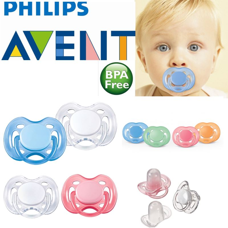 Philips Avent Freeflow Orthodontic Dummy Pacifier Baby Silicone Teat Soother 2PK