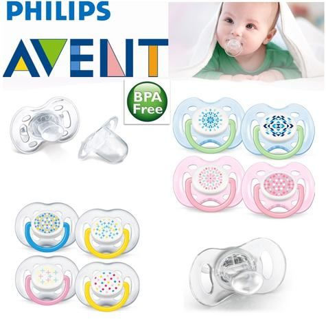 Avent Orthodontic Extra Freeflow Dummy Pacifier Contemporary Baby Soother Thumbnail 1