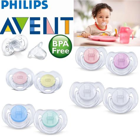 Avent Dynamic Orthodontic Pacifier Dummy Translucent Silicone Baby Soother 2PK Thumbnail 1