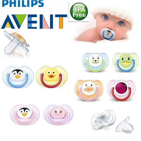 Avent Orthodontic Dynamic Animal Design Dummy Pacifier Slicone Teat Baby Soother Thumbnail 1
