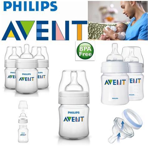 Avent Classic Newborn Anti-Colic Baby Feeding Milk Bottle Silicone Teat 125ml  Thumbnail 1