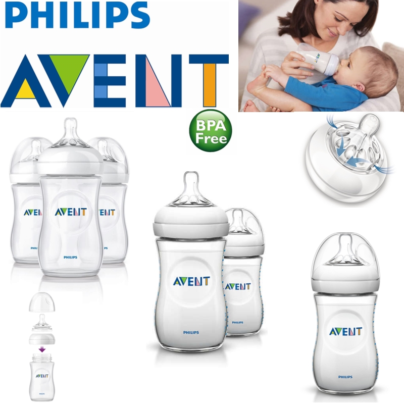 Avent Natural Infant Easy Latch On Anti-Colic Baby Feeding Milk Bottles 260ml