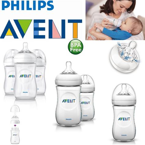 Avent Natural Infant Easy Latch On Anti-Colic Baby Feeding Milk Bottles 260ml Thumbnail 1