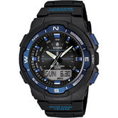 CASIO Thermometer Compass World Time Alarms Digital Stopwatch Sports Gear Watch