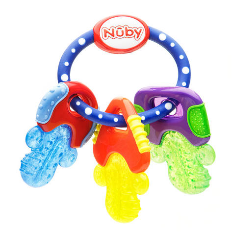 Nuby Baby Nontoxic Comforter Icy Bite Keys Pacifier Early Teething Teether Toy Thumbnail 3