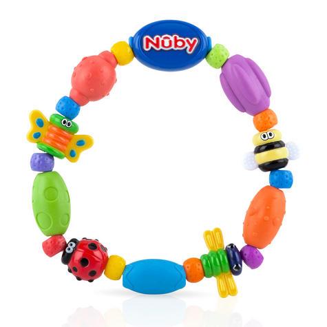 Nuby Baby Bug a Loop Teether Massaging Nub-eez soothe & stimulate Toy BPA-Free Thumbnail 1